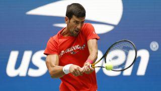 Novak Djokovic vs Holger Rune live stream: Novak Djokovic at US Open practice