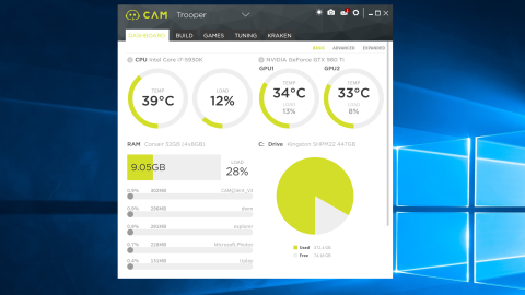 cam software overclocking