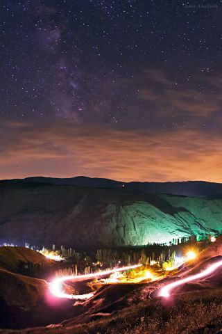 Milky Way Over Alamut Valley in Alborz Mountains Abolfath