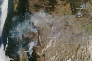 Western wildfires on Aug. 11, 2012