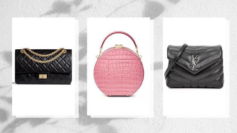 collage of three of the best designer bags