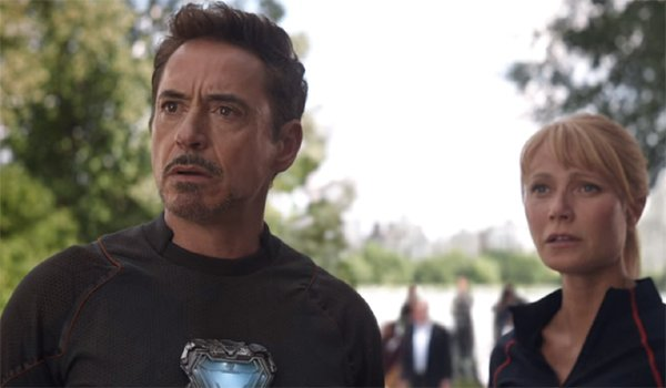 Robert Downey Jr. and Gwyneth Paltrow in Avengers: Infinity War