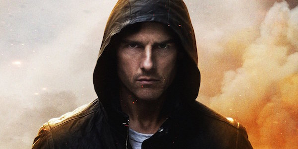 Tom Cruise as Ethan Hunt wearing hoodie