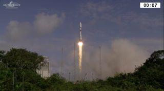 Europeanized Soyuz rocket launch