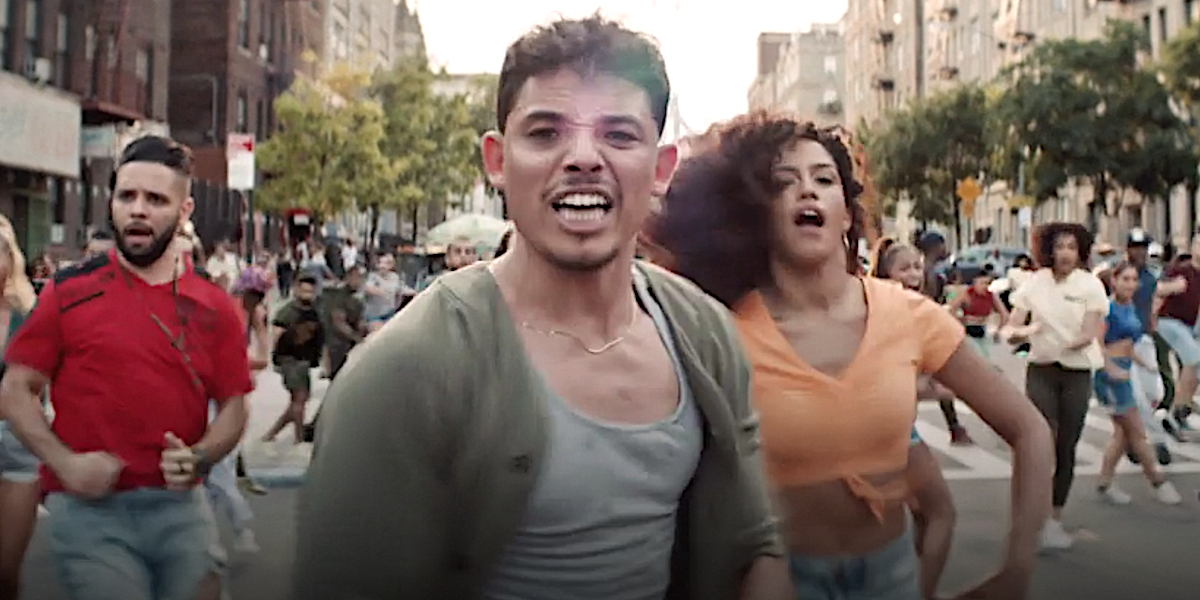In the Heights Genessy Castillo of So You Think You Can Dance behind Anthony Ramos