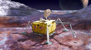 Europa Lander: Artist's Illustration