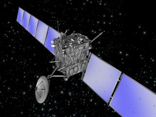 An artist's illustration of the European Space Agency's comet-chasing Rosetta spacecraft.