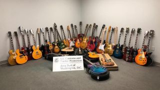 US customs agents seized 36 counterfeit guitars