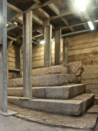 podium unearthed in ancient jerusalem