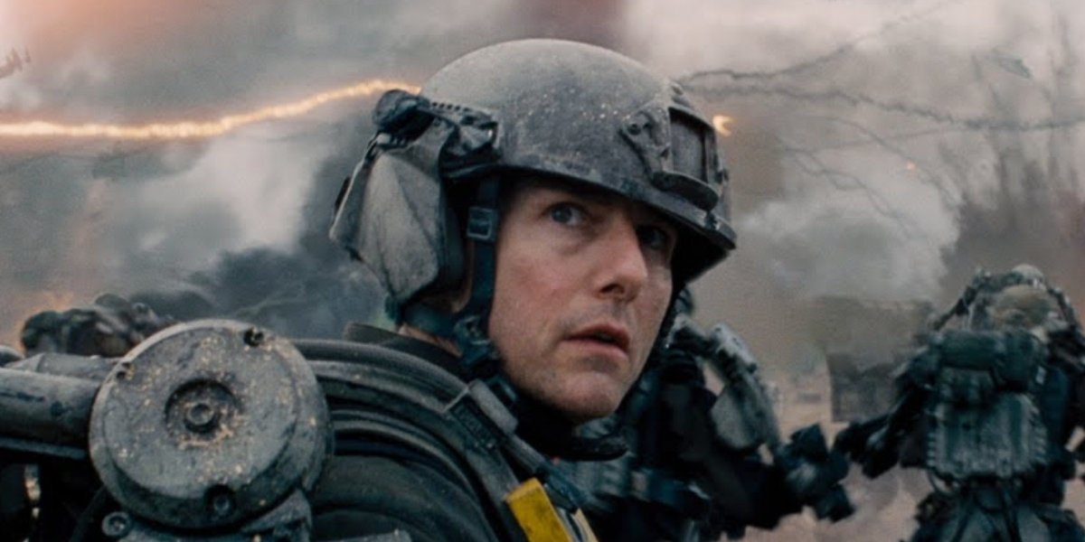 Tom Cruise as William Cage in Edge of Tomorrow