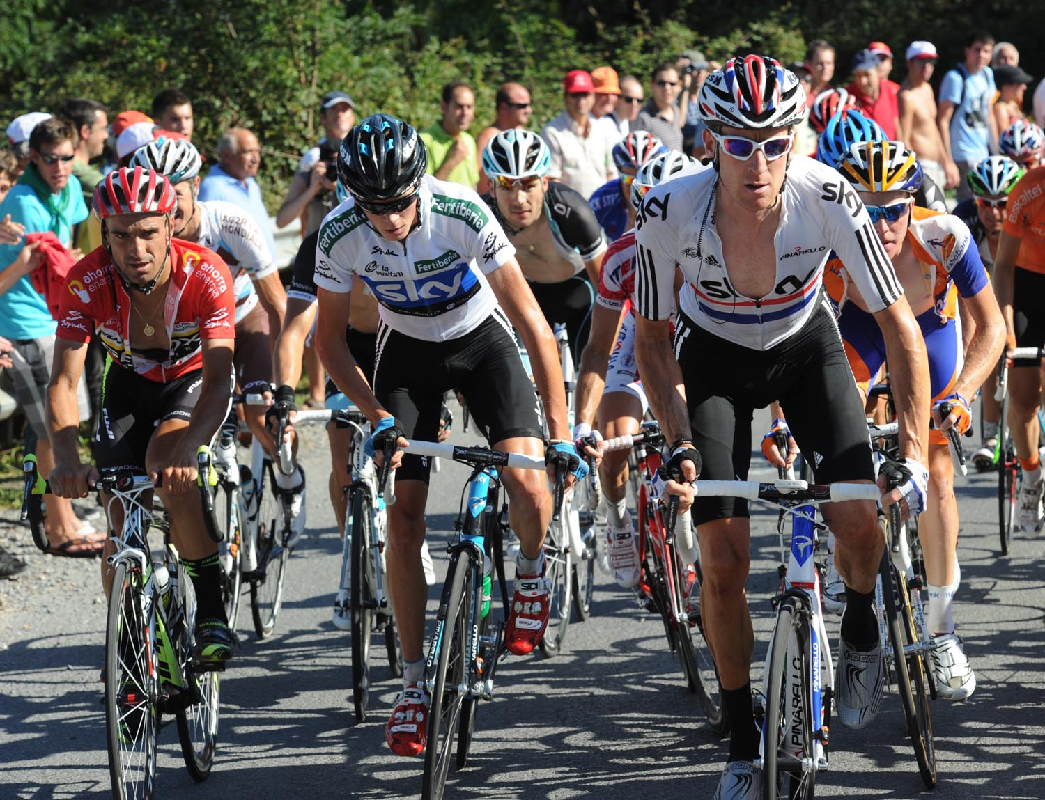 Bradley Wiggins leads Chris Froome, Vuelta a Espana 2011, stage 19