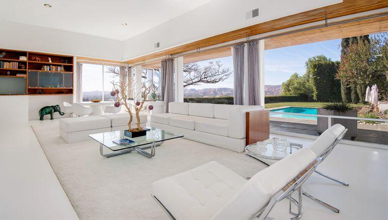 Minimalist living room in Frank Sinatra's Los Angeles home