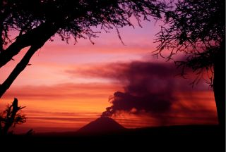 Ol Doinyo Lengai in Tanzania is the only volcano on Earth that gushes natrocarbonatite lava.