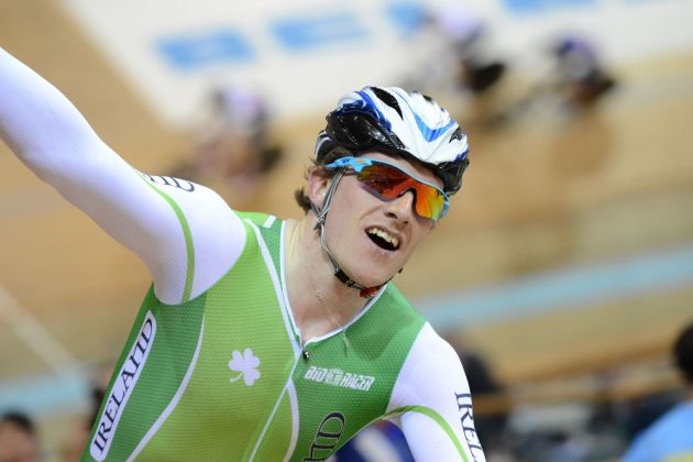 Martyn Irvine wins scratch race, Track World Championships 2013, day two, evening
