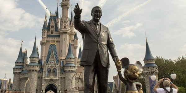 Walt Disney World Walt and Mickey's statue