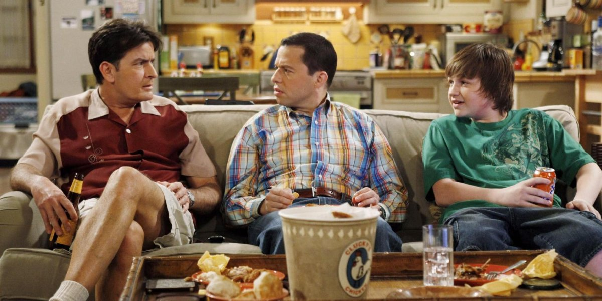Charlie Sheen, Jon Cryer, and Angus T. Jones on Two and a Half Men