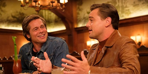 Cliff Booth and Rick Dalton having a conversation in Once Upon a Time in Hollywood