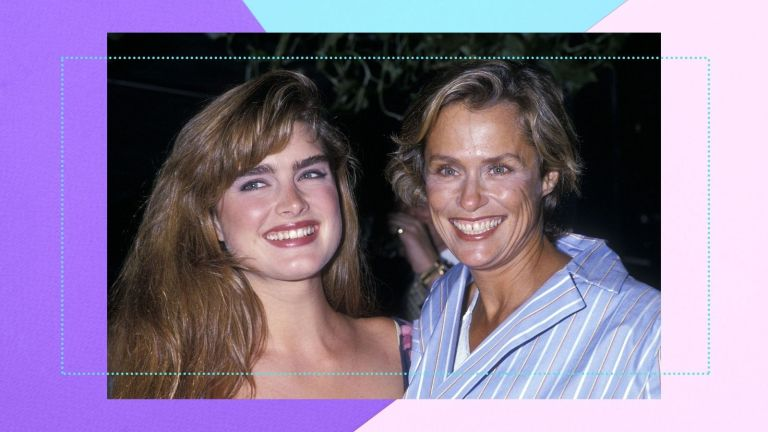 80s makeup stylized image of brooke shields and lauren hutton