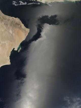 sunglint in the arabian sea