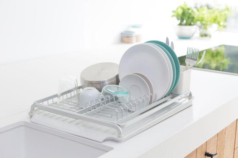 Brabantia light grey dish rack