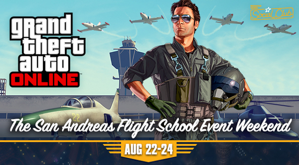 GTA Online Flight School Weekend banner