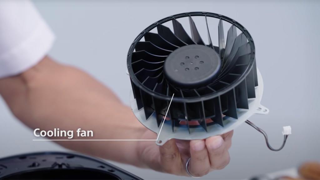 PS5's cooling fan