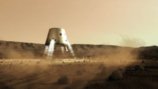 Mars One plans to launch an unmanned supply mission to the Red Planet in 2016