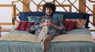 Lil Dicky (Dave Burd) pauses for reflection while trying to coordinate a music video for a Korean pop crossover song he hopes to record with artist CL in the Season 2 premiere of 'Dave'.