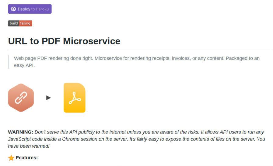 URL to PDF