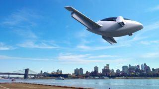 Concept image of Lilium air taxi in flight
