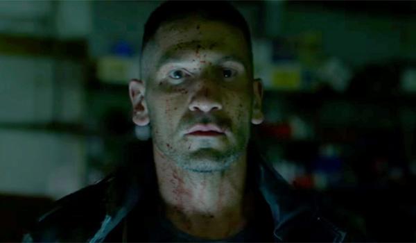jon bernthal bloody face as Punisher