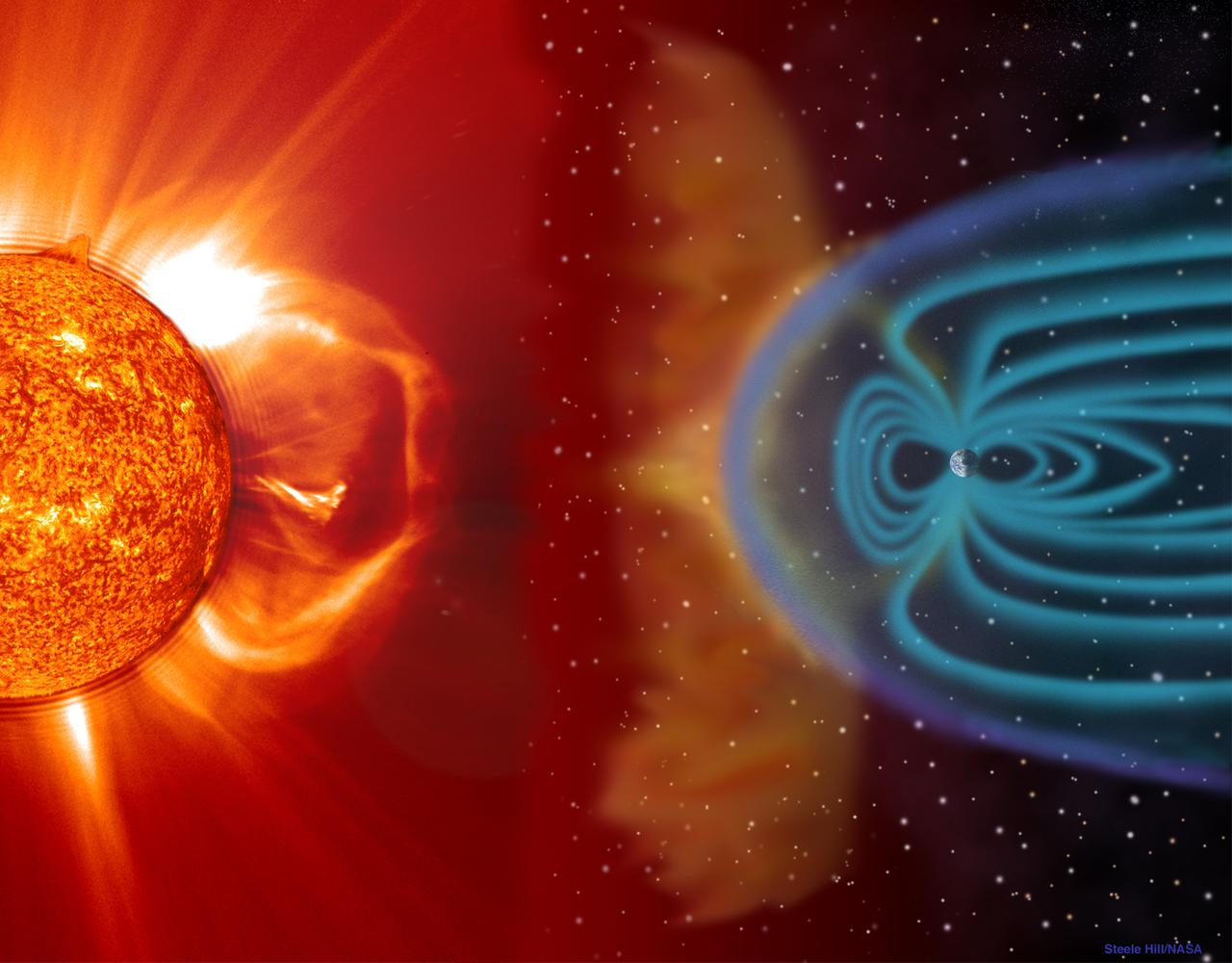 Earth's Magnetic Field is A Ruthless, Solar-Wind-Shredding Machine ...