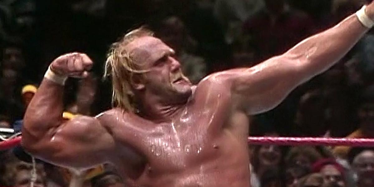 Hulk Hogan showcasing his signature pose
