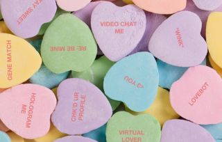 Techy conversation hearts