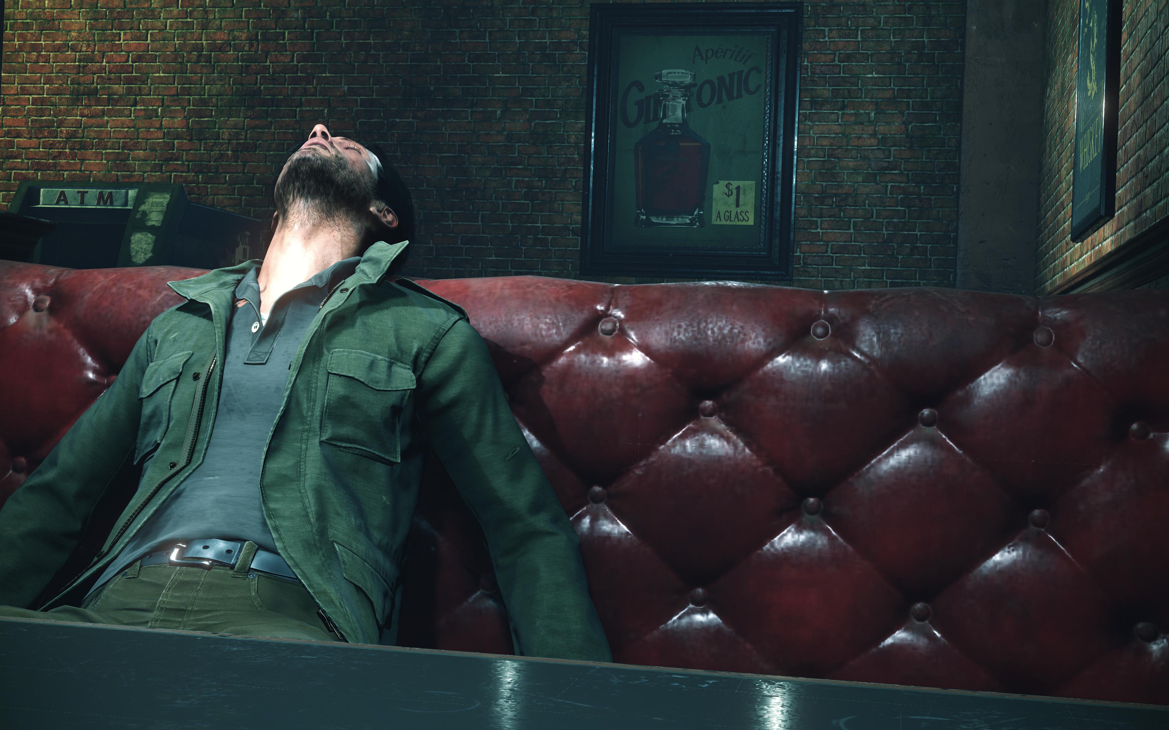 Man slumped in chair