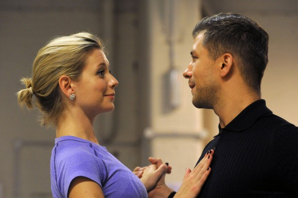 Rachel Riley with dance partner Pasha Kovalev