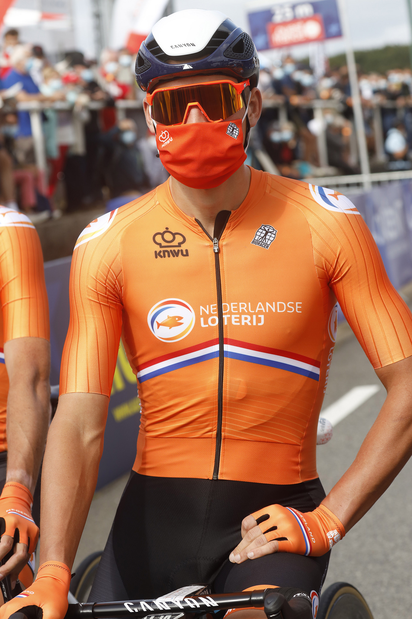 Mathieu van der Poel was hoping to take another championship jersey