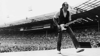 Francis Rossi onstage at Live Aid