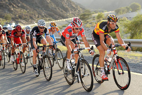 Tom Boonen, Matti Breschel, Tour of Oman 2010, stage four