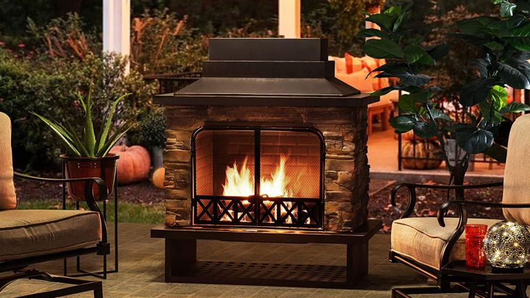 Outdoor fireplace ideas: Sunjoy fireplace