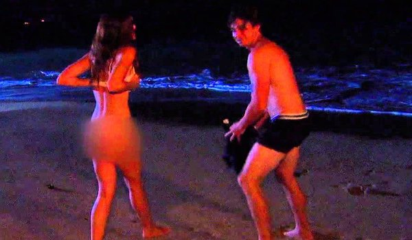 Bachelor Ben Flajnik skinny dipping with Courtney Robertson ABC
