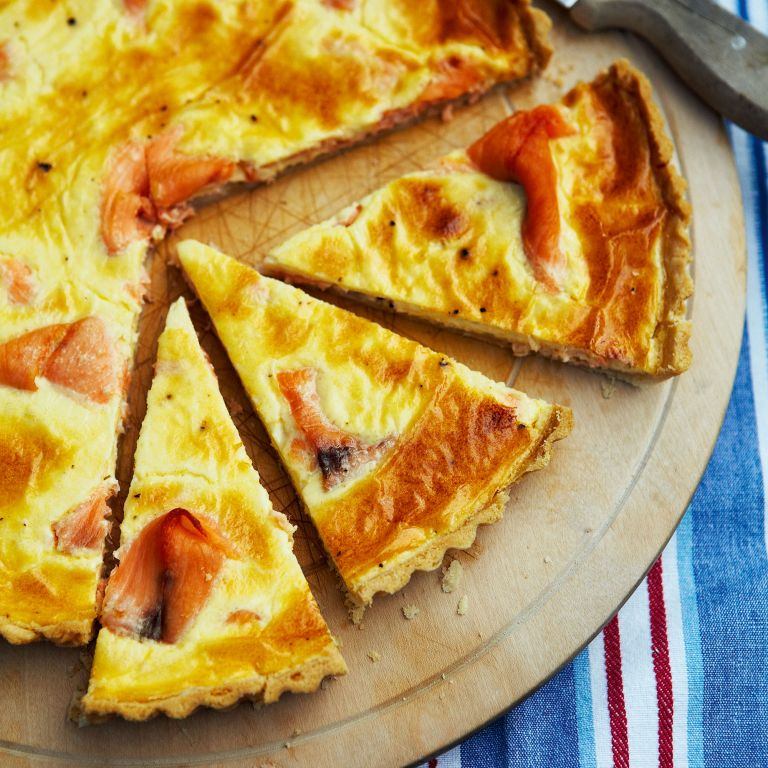 Smoked Salmon Tart-Jubilee-woman and home