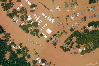 NOAA aerial image louisiana flooding