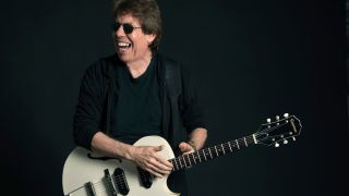 George Thorogood with his Epiphone White Fang signature guitar