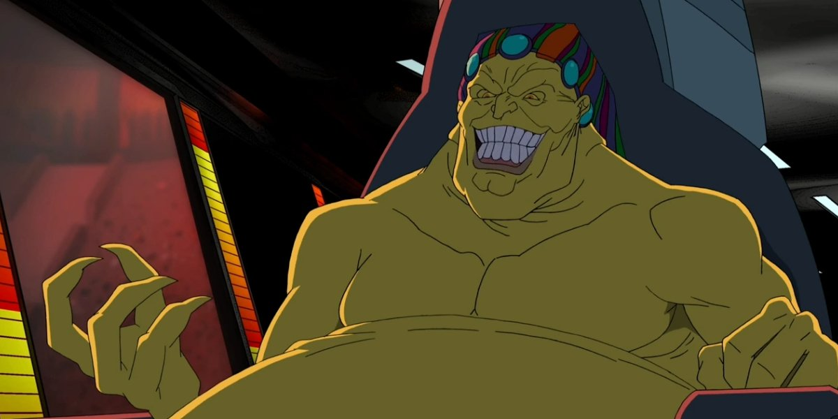 Mojo and his striking, yellow chin on Avengers Assemble