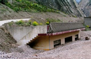 A landslide buried this house in Sichuan, China.