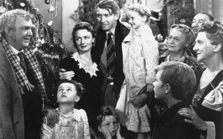 In 'It's A Wonderful Life,' George Bailey (Jimmy Stewart) fights off despair after being confronted with a life of unfulfilled dreams.