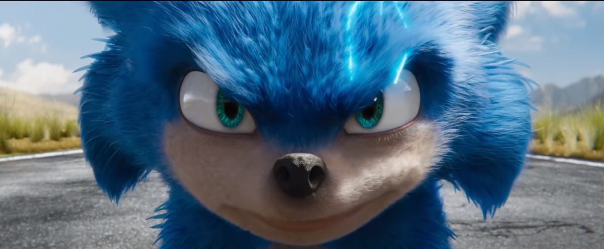 Old Sonic the Hedgehog Face