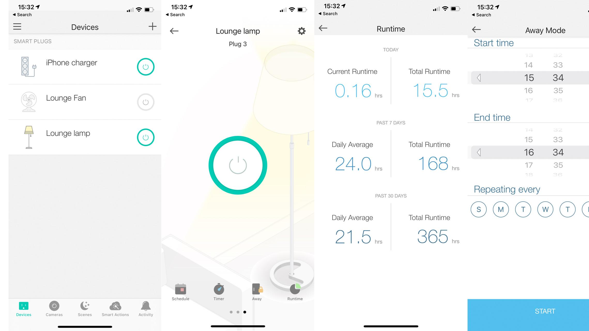TP-Link Kasa Smart Wi-Fi Powerstrip KP303'S app