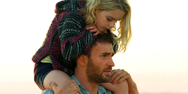 Gifted Mckenna Grace riding on Chris Evans' shoulders
